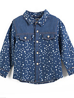 Girl's Blue Tee Cotton Spring / Fall
