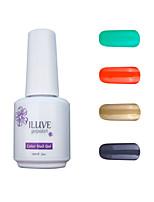 ILuve Gel Nail Polish Set - Pack Of 4 - Long Lasting 3 Weeks Soak Off UV Led Gel Varnish – For Nail Art #4038
