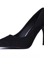 Scarpe Donna-Scarpe col tacco-Matrimonio / Serata e festa-Tacchi-A stiletto-Felpato-Nero / Blu / Rosso