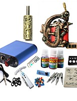 Tattoo Kit JH575 1 Machine With Power Supply Grips 3x10ML Ink