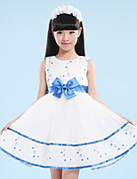 A-line Short/Mini Flower Girl Dress-Organza / Satin / Polyester Sleeveless