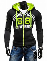 Men's Sports Casual/Daily Hoodie Letter Hooded strenchy Cotton Long Sleeve Spring Fall Winter