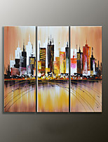 Hand-Painted Landscape Modern Oil Painting,Canvas Three Panels
