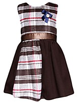 Girl's Brown / Orange Dress Polyester Spring / Fall