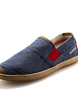 Men's Shoes Athletic / Casual Fabric Loafers Blue / Brown / Gray