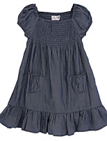 Girl's Black Dress Cotton Summer