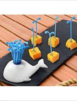 Новинка портативный фрукты кит торт салат вилки кухня
