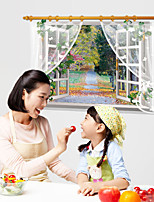 The Path Leaves False Windows Wall Stickers Landscape / 3D Wall Stickers 3D Wall Stickers,PVC 90*60cm