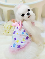Personality Sweety Stars Printing Pet Dress