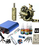 Basekey Tattoo Kit JH571 1 Machine With Power Supply Grips 3x10ML Ink