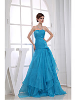 Formal Evening Dress-Pool A-line Sweetheart Floor-length Organza