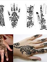 1Pcs Tattoo Templates Hands Henna Tattoo Stencils for Airbrushing Professional Mehndi New Body Painting Kit