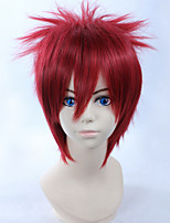 Naruto Gaara 28cm Short Straight Red Color Men's Party Anime Cosplay Full Wig