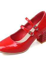 Women's Shoes Chunky Heel/Square Toe Heels Office & Career/Dress Black/Red/Silver