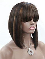 Joywigs Highlight color #1B/30 Short Bob Cut Wigs with Baby Hair Glueless Virgin Brazilian Human Hair Lace Wigs