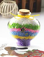 2PCS Desktop Furnishing Articles Gift Rainbow Peach Heart Wishing Bottle