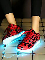 Women's LED Shoes USB charging Fashion Sneakers Outdoor/Athletic/Casual Red/Gray