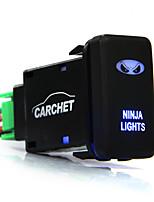 on / off knapp DIY klippa dubbla blå lampor med kabel för toyota ninja