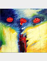 één paneel met de hand beroemde abstracte olieverf op doek klaar te hangen