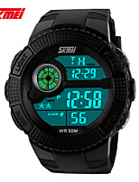 Sports Watch Men's / Unisex LCD / Compass / Thermometer / Calendar / Water Resistant / Dual Time Zones / Sport Watch Digital Digital