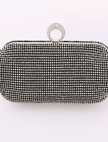 Women Metal Minaudiere Clutch / Evening Bag / Wallet / Mobile Phone Bag-Gold / Silver / Black