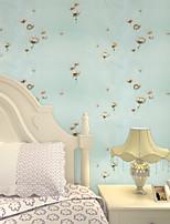 Contemporary Wallpaper Art Deco 3D Garden Flowers Wallpaper Wall Covering PVC/Vinyl Fabric Wall Art