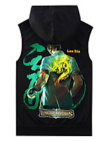 LOL Yellow,Blue,Black,Red,Gray Cotton Cosplay Top