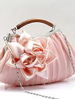 Women Chiffon Baguette Clutch / Evening Bag / Wallet / Key Holder / Coin Purse-Purple / Red