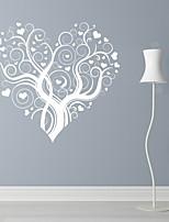 Romance / Moda / Floral Wall Stickers Autocolantes de Aviões para Parede,PVC M:42*46cm / L:55*60cm