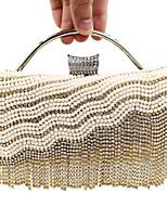 L.WEST® Women's Handmade High-grade Pearl Diamonds Tassel Party/Evening Bag