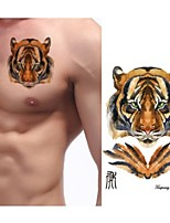 2016 NEW Hot  Arm Tattoo Large Size Waterproof Chinese Zodiac Animal Tiger Head Temporary Tattoo Stickers