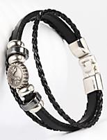 Pincers Plier Forcep Shape PU Men's Bracelet