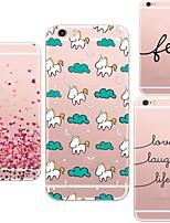 Für iPhone 5 Hülle Transparent / Muster Hülle Rückseitenabdeckung Hülle Zeichentrick Weich TPU iPhone SE/5s/5