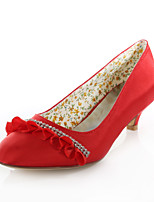 Women's Wedding Shoes Heels / Round Toe Heels Wedding / Party & Evening / Dress Blue / Purple / Red