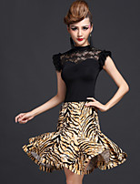 Latin Dance Outfits Women's Performance 2 Pieces Tiger Stripes / Leopard Print / Zebra