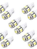 10pcs 5w t10 ampoules LED voiture a conduit la largeur W5W de lumière LED lecture lumière intérieure W5W conduit de lumière t10 5050 5SMD