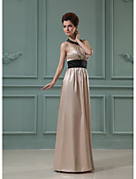 Formal Evening Dress-Burgundy / Lilac / Grape / Royal Blue / Champagne / Watermelon A-line Halter Floor-length Charmeuse