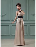 Formal Evening Dress-Burgundy / Lilac / Grape / Royal Blue / Champagne / Watermelon A-line Halter Floor-length Charmeuse