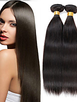 High Quality 3Bundles Peruvian Virgin Hair Weave Natural Black Straight Hair Unprocessed Virgin Human Hair Weaves.