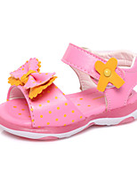 Girls' Shoes Outdoor / Casual Peep Toe / Gladiator Leatherette Sandals Pink / White