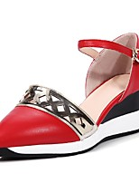 Women's Shoes Wedge Heel Wedges / Pointed Toe Sandals Party & Evening / Dress / Casual Black / Red / White