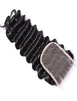 mekywell 4 * 4 fechamento cabelo onda profunda parte livre fechamento fio de cabelo humano