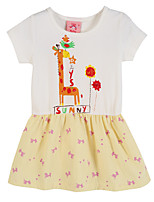 Girl's Pink Dress,Print Cotton Summer / Spring