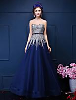 Formal Evening Dress A-line Sweetheart Floor-length Tulle