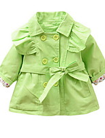Girl's Green / Red Dress Cotton Spring / Fall