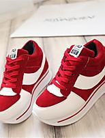 Scarpe Donna-Sneakers alla moda-Tempo libero / Sportivo-Creepers-Plateau-Di corda-Nero / Rosso