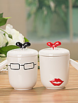 2PCS 300ML Fashion Personality For Cup Couples Are Cup For Cup Romantic Gifts