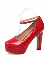 Scarpe Donna-Scarpe col tacco-Matrimonio / Ufficio e lavoro / Serata e festa-Tacchi-A stiletto-Finta pelle-Nero / Rosso / Bianco