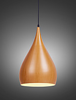 New Retro pendant lights Wood Grain Metal Dining Room,  Living Room, Cafe , Kitchen , Kids Room pendant lamps