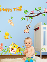 Wall Stickers Wall Decals Style Owl Animal Park PVC Wall Stickers